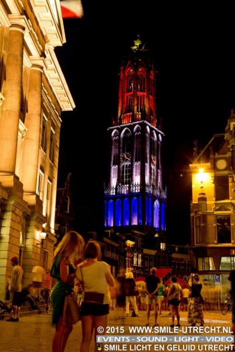 Gedurende 6 dagen heeft Smile de Utrecht Dom nog even in het (LED)licht gezet in opdracht van BINK Events.